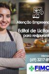 Centro Universitário FIMCA divulga edital de seleção para restaurante em seu...