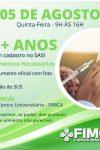 Porto Velho começa vacinação para pessoas acima de 23 anos na FIMCA